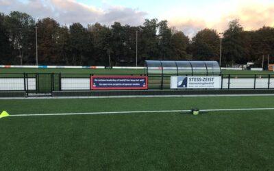 Steun jouw cluppie met een reclame bord op ons prachtige nieuwe veld!